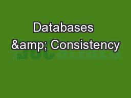 Databases & Consistency