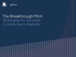 The Breakthrough Pitch Strategies for success