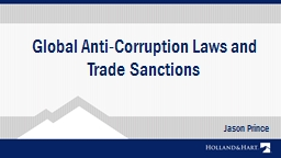Global Anti-Corruption Laws and Trade Sanctions