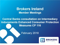 Brokers Ireland  Member Meetings