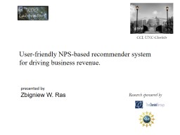 User-friendly NPS-based recommender system for driving business revenue.