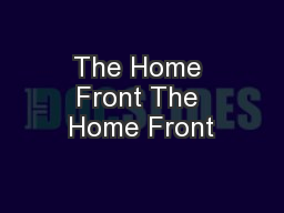 The Home Front The Home Front