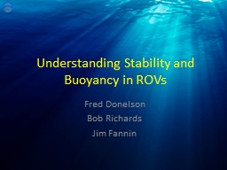 Understanding Stability and Buoyancy in ROVs