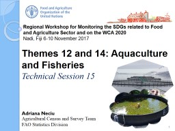 Regional Workshop for Monitoring the SDGs related to Food and Agriculture Sector and on the WCA 202