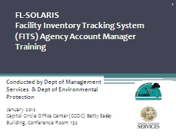 FL-SOLARIS  Facility Inventory Tracking System (FITS) Agency Account Manager Training