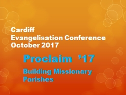 Cardiff  Evangelisation Conference