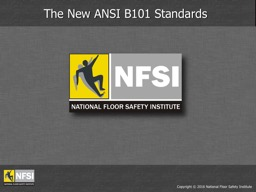 Copyright �  2016  National Floor Safety Institute