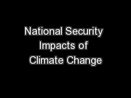 National Security Impacts of Climate Change