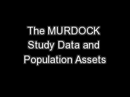 The MURDOCK Study Data and Population Assets