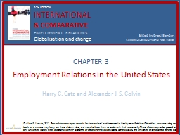 CHAPTER 3 Employment Relations in the United States