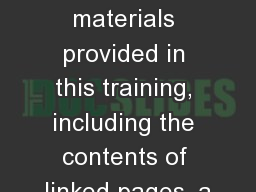 Union Organizing All materials provided in this training, including the contents of linked pages, a