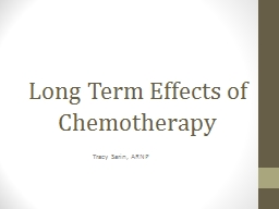 Long Term Effects of Chemotherapy