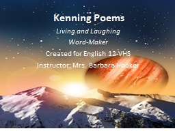Kenning Poems Living and Laughing