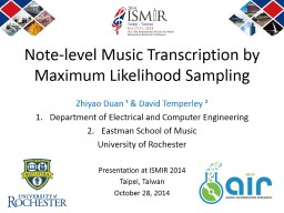 Note-level Music Transcription by Maximum Likelihood Sampling
