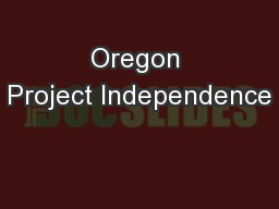 Oregon Project Independence