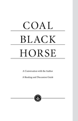 COAL BLACK HORSE A Conversation with the Author A Read