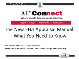 The New FHA Appraisal Manual: What You Need to