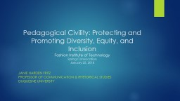 Pedagogical Civility: Protecting and Promoting Diversity,