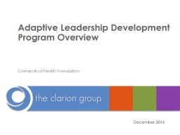 Adaptive Leadership Development Program Overview for Leaders PowerPoint PPT Presentation