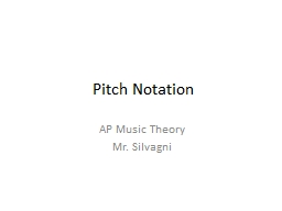 Pitch Notation AP Music Theory