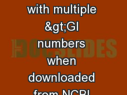 Clean up sequences with multiple >GI numbers when downloaded from NCBI BLAST website