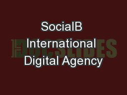 SocialB International Digital Agency