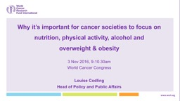 OBESITY PREVENTION AND CONTROL