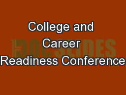 College and Career Readiness Conference