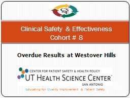 Clinical Safety & Effectiveness