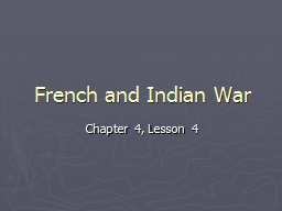 French and Indian War Chapter