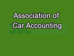 Association of Car Accounting