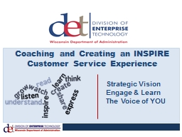 Coaching and Creating an INSPIRE Customer Service Experience