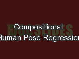 Compositional Human Pose Regression