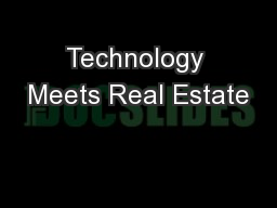 Technology Meets Real Estate