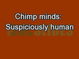 Chimp minds: Suspiciously human