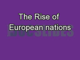 The Rise of European nations