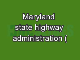 Maryland state highway administration (