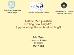 Elastic Multiplication (scaling new heights?)