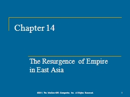 Chapter 14 The Resurgence of Empire
