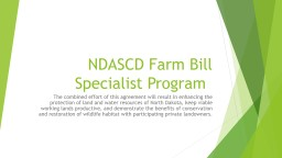 NDASCD Farm Bill Specialist Program