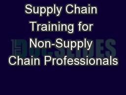 Supply Chain Training for Non-Supply Chain Professionals