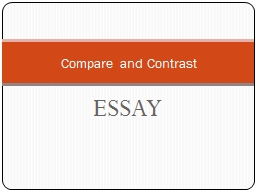 ESSAY Compare and Contrast