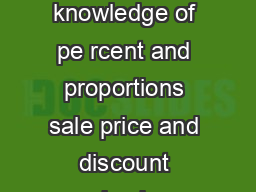 Percent Applications Worksheet  Name Solve each problem below using your knowledge of pe rcent and proportions sale price and discount simple interest straight commission sales tax and percent change