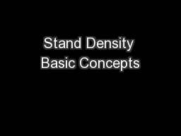 Stand Density Basic Concepts PowerPoint PPT Presentation