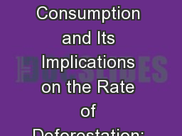 Urban Charcoal Consumption and Its Implications on the Rate of Deforestation: The Case For