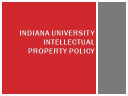 Indiana University Intellectual Property policy