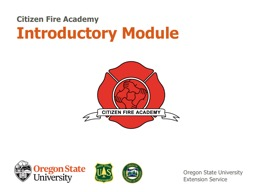 Introductory Module Citizen Fire Academy