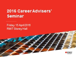 2016  Career Advisers' Seminar