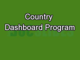 Country Dashboard Program