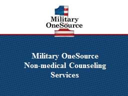 Military OneSource  Non-medical Counseling Services